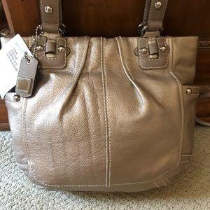 Tignanello Champagne Leather Bag